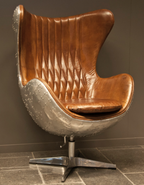 Egg Chair Echtleder