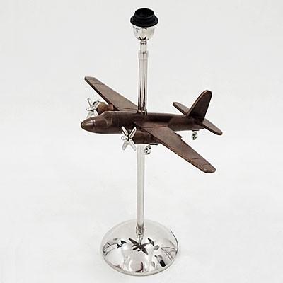 dekorative Tischlampe inkl. Flugzeugmodell