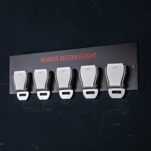 5er Seatbelt Buckle Schlüsselhalter Carbon - Rot