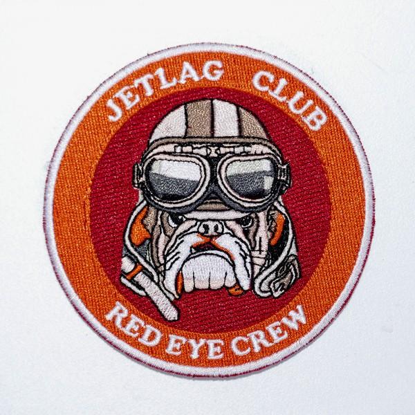 """Patch """"Red Eye Crew"""" mit Klett"""