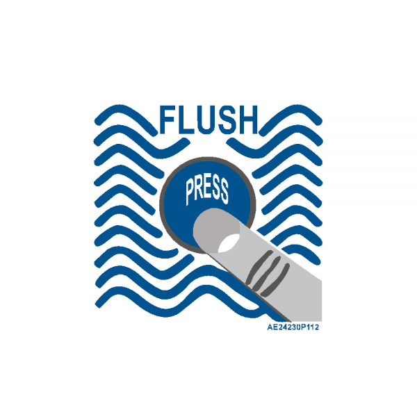 "Airline Placard ""Flush"""