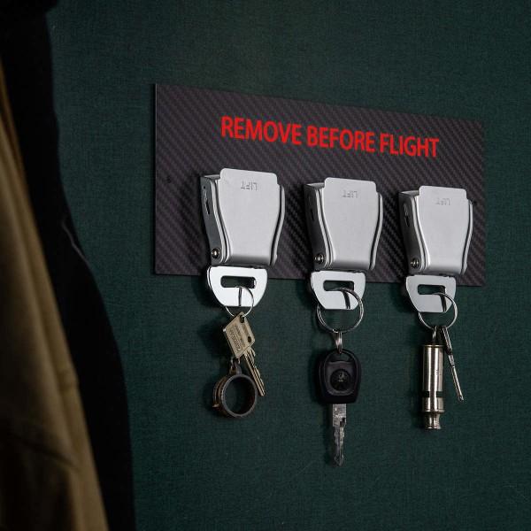Seatbelt Buckle Schlüsselhalter Carbon - Rot