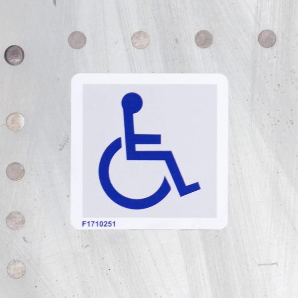 "Airline Placard ""Behindertengerecht"""