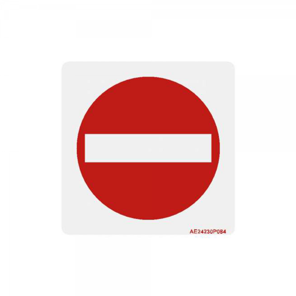 "Airline Placard ""No Entry"""