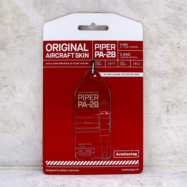 """Aviationtag Piper PA-28 """"red"""""""