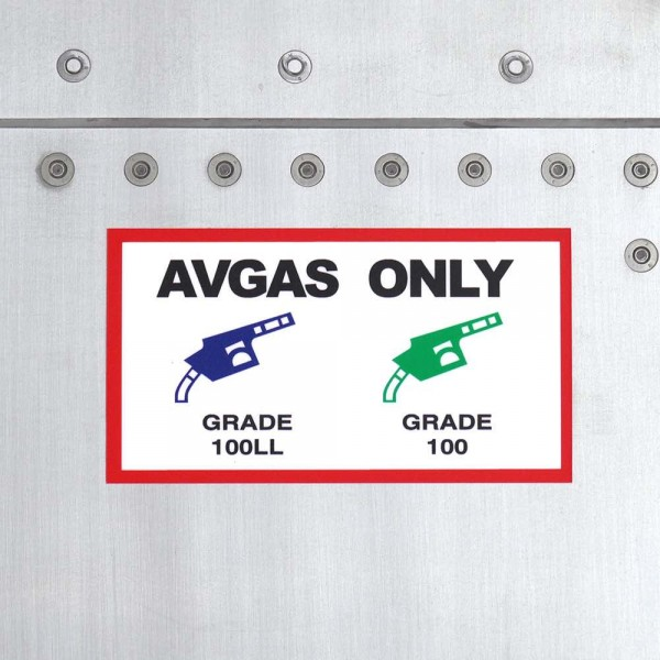 """Sticker """"Avgas Only"""""""