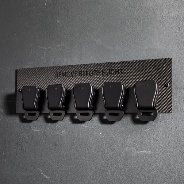 5er Seatbelt Buckle Schlüsselhalter Carbon - Black Edition