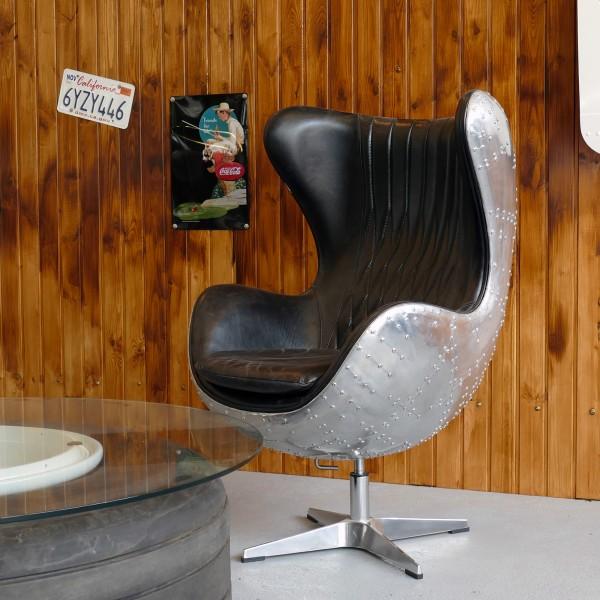 Egg Chair Echtleder