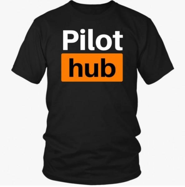 "Herren T-Shirt ""Pilot hub"" Schwarz"
