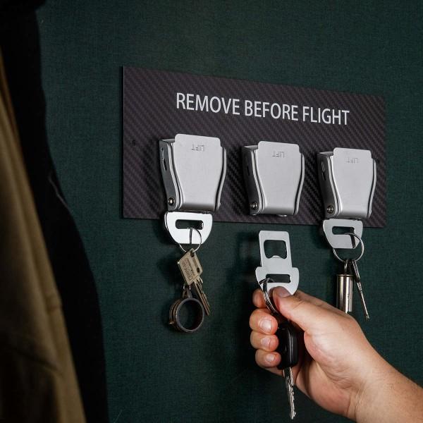 Seatbelt Buckle Schlüsselhalter Carbon - Weiß