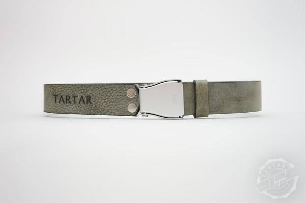 TARTAR - Ledergürtel ash