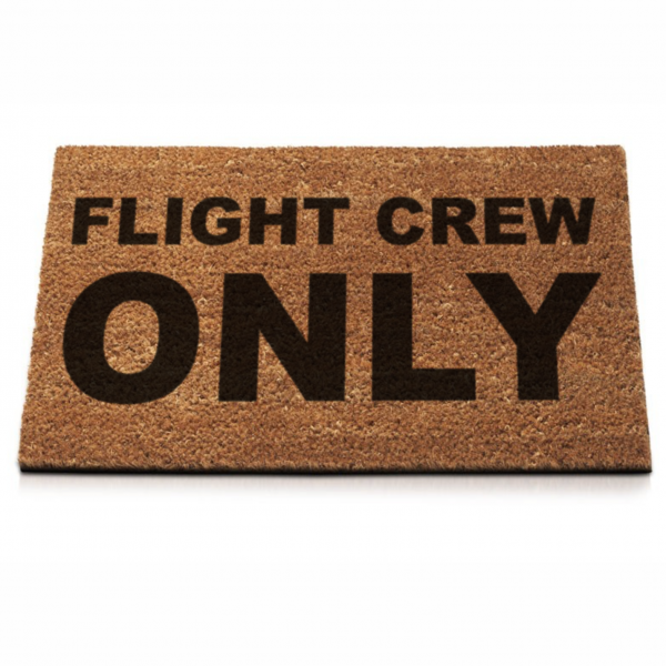 "Fußmatte ""Flight Crew Only"""