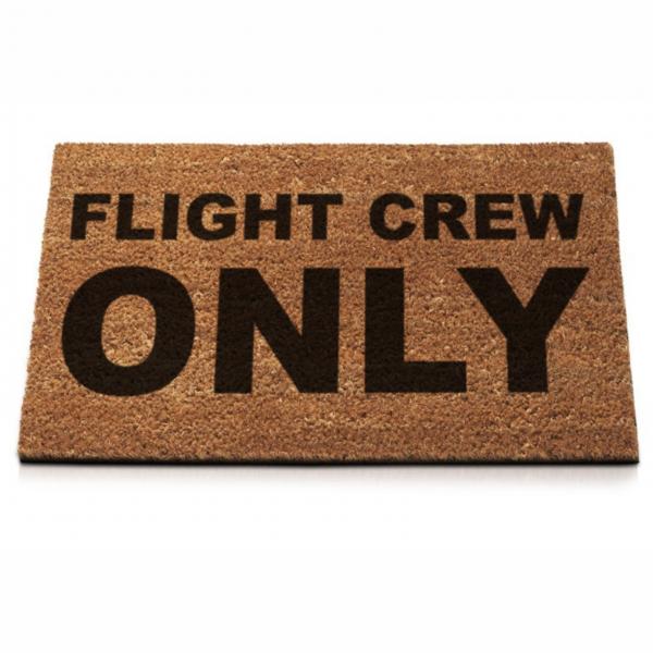 """Fußmatte """"Flight Crew Only"""""""