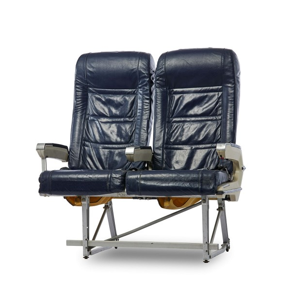 2er Sitzbank Leder blau