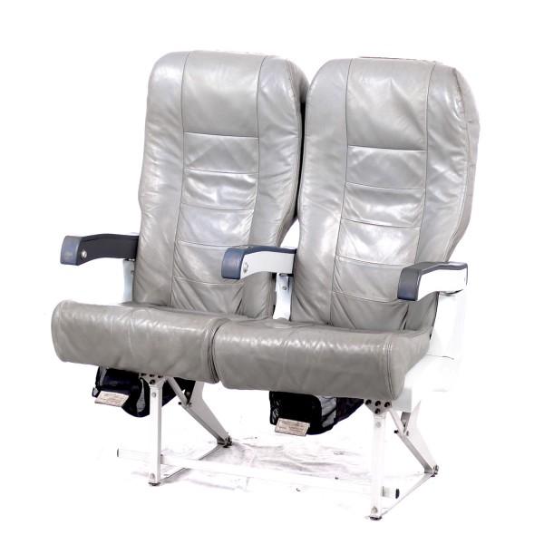 2er Sitzbank Leder grau