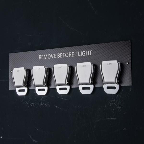 5er Seatbelt Buckle Schlüsselhalter Carbon - Weiß
