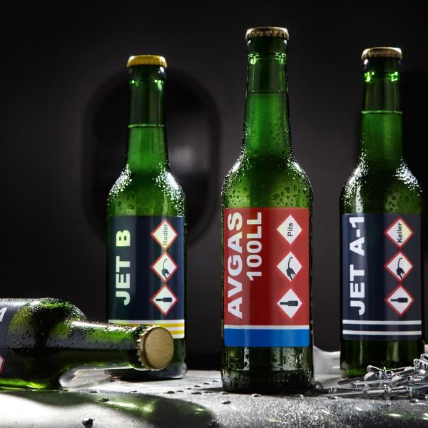 Bier in Jet-Fuel Optik (Einzelflaschen à 0,33 l)