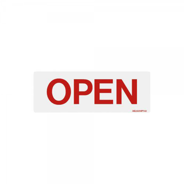 "Airline Placard ""Open"""