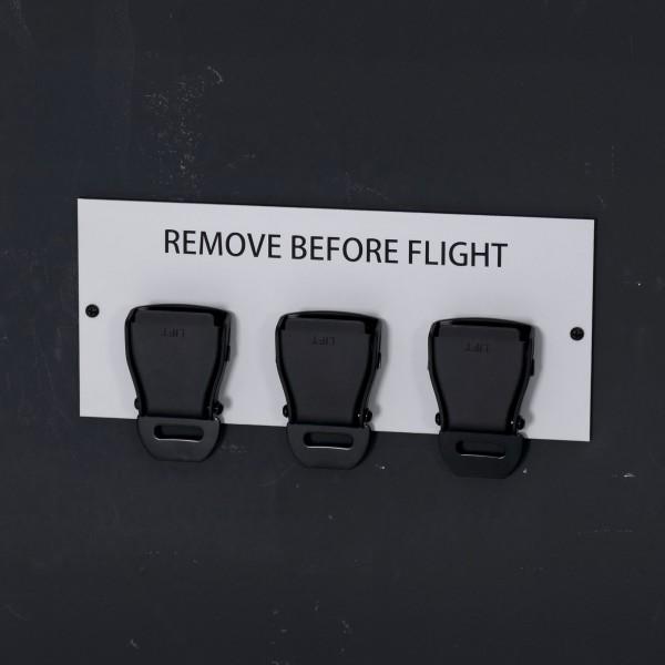Seatbelt Buckle Schlüsselhalter Aluminium - Black Edition