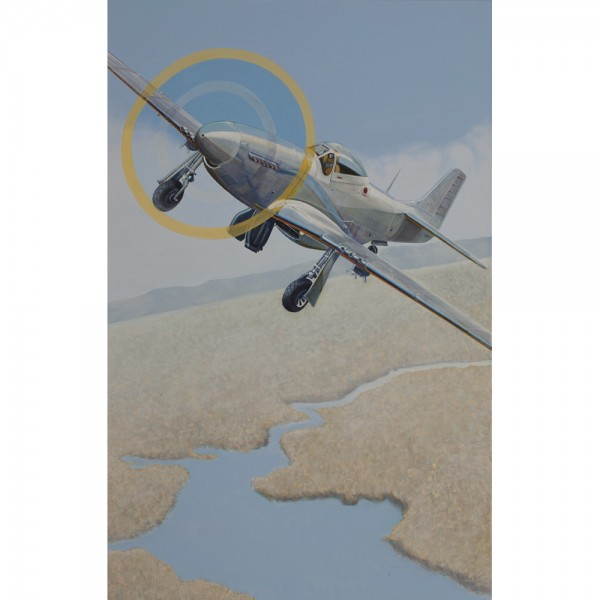 P-51, 125x195cm, Öl auf Leinwand