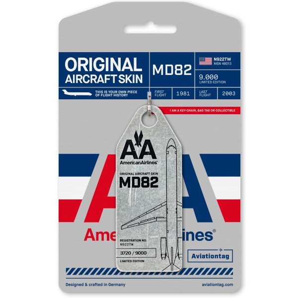 "Aviationtag MD82 ""Mad Dog"", silber"