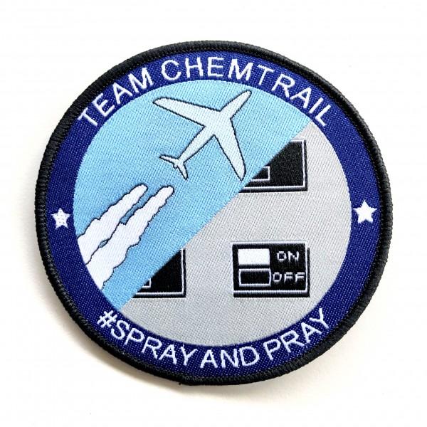 """Patch """"Team Chemtrail"""" zum Aufnähen"""